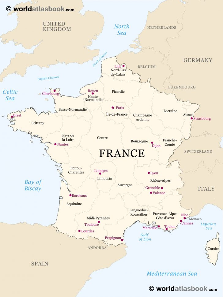 Printable Map Of Paris France