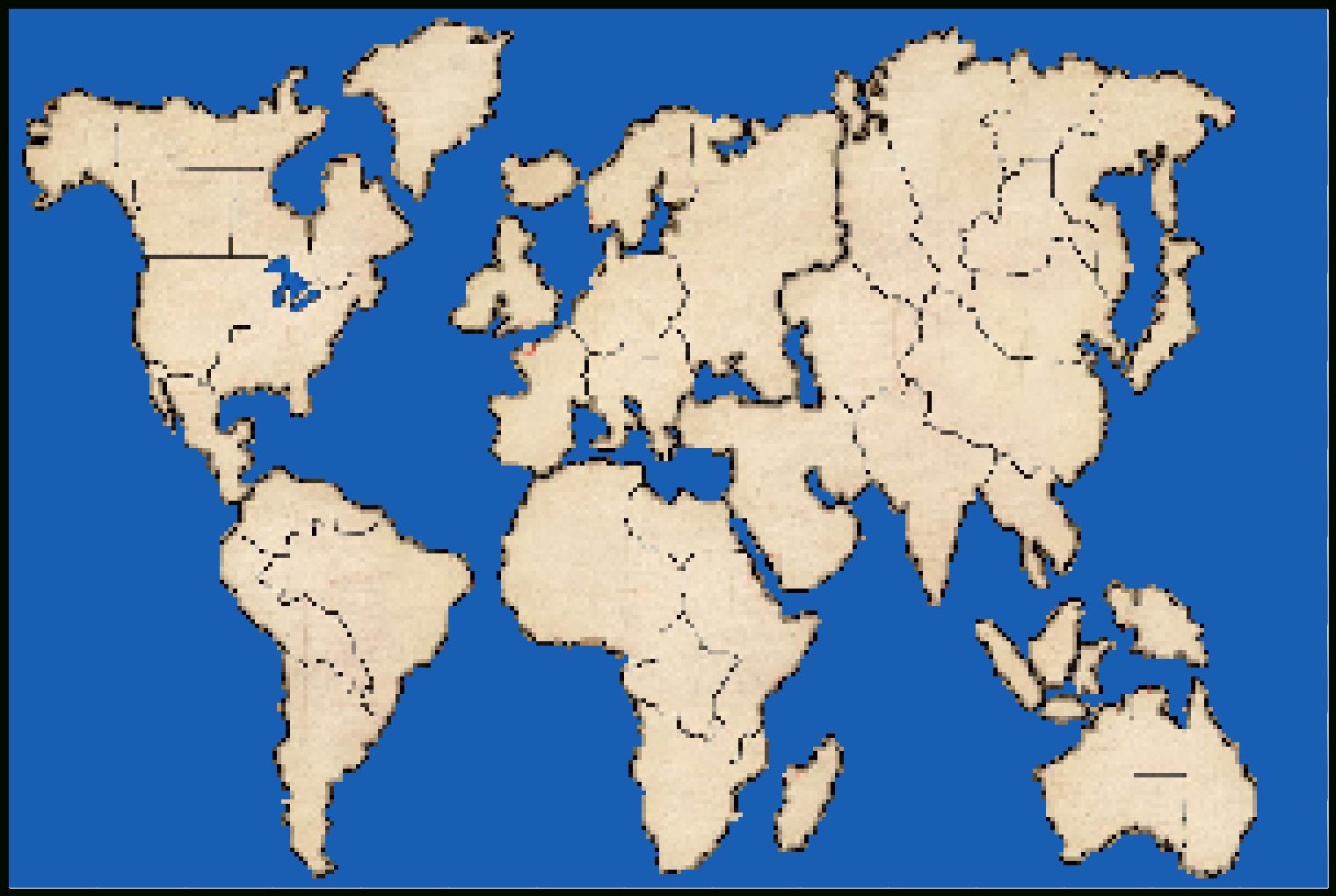 Printable Risk Board Game Map - Risk Board Game Printable Map