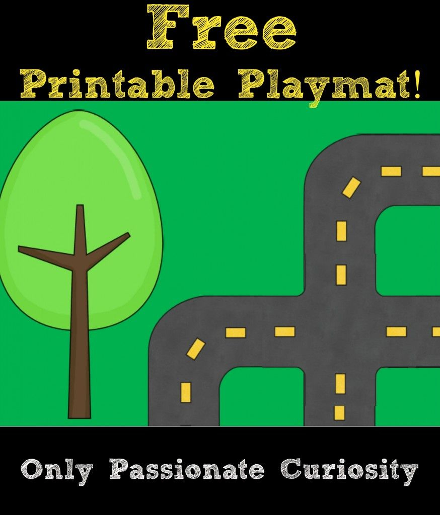 Printable Road Playmat And German Road Signs | Preschool | Pinterest - Free Printable Road Maps For Kids