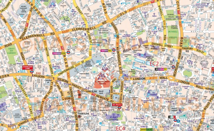 Printable Street Map Of London