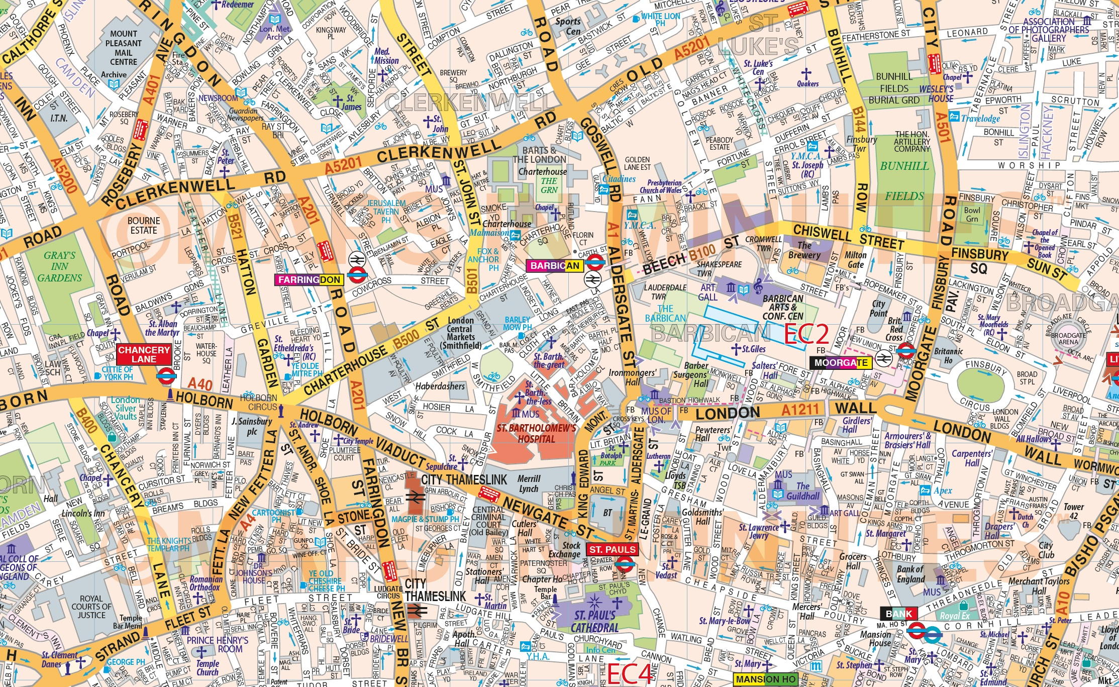 Printable Street Map Of Central London Printable Street Map Central - Printable Street Map Of London