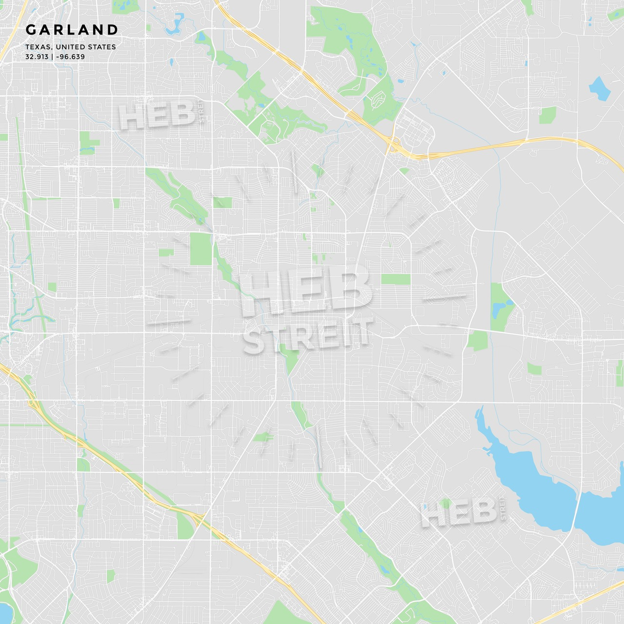 Printable Street Map Of Garland, Texas | Hebstreits - Garland Texas Map