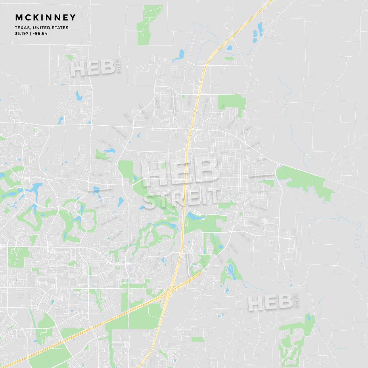 Printable Street Map Of Mckinney, Texas | Hebstreits Sketches - Street Map Of Mckinney Texas