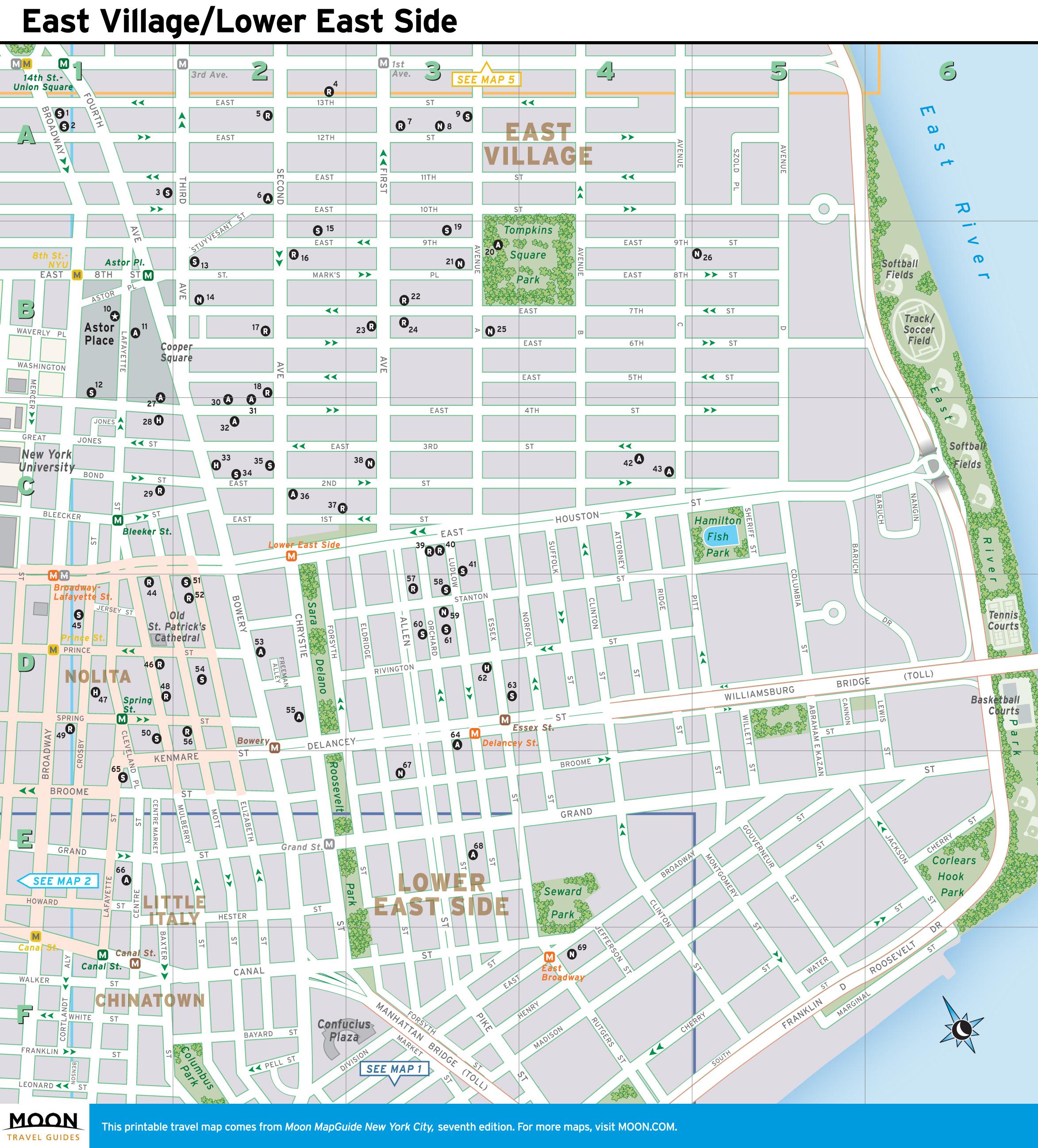 Printable Street Map Of New York City   Travel Maps And Major - Printable New York Street Map