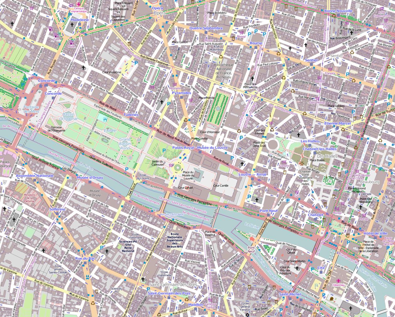 Printable Street Map Of Paris Download Map Paris France Streets - Paris Street Map Printable