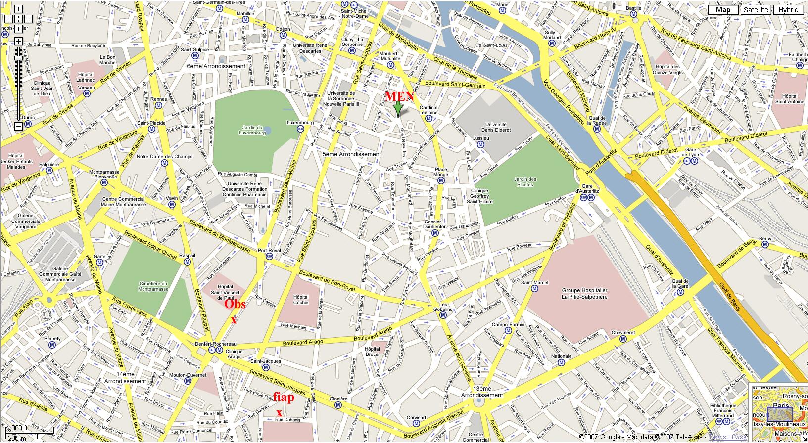 Printable Street Map Of Paris Download Printable Paris Street Map - Printable Map Of Paris France