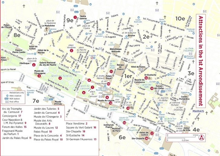 Printable Map Of Paris With Tourist Attractions