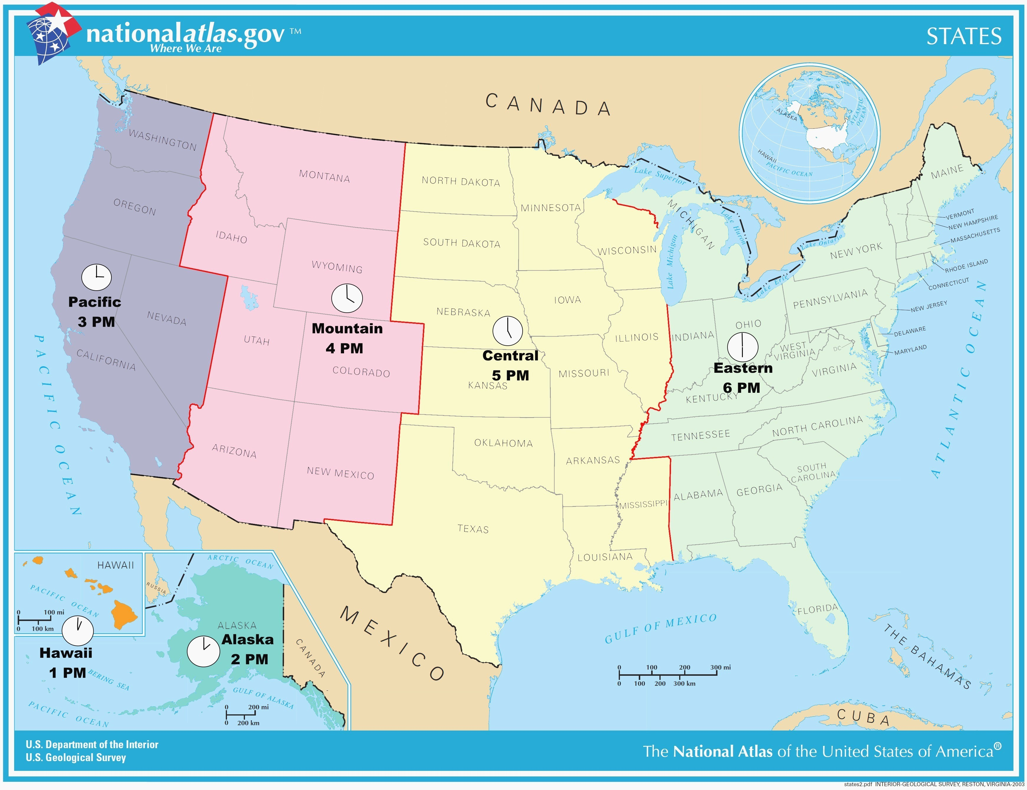 Printable Time Zone Map Us And Canada New Map Timezones In United - Printable Time Zone Map Usa With States