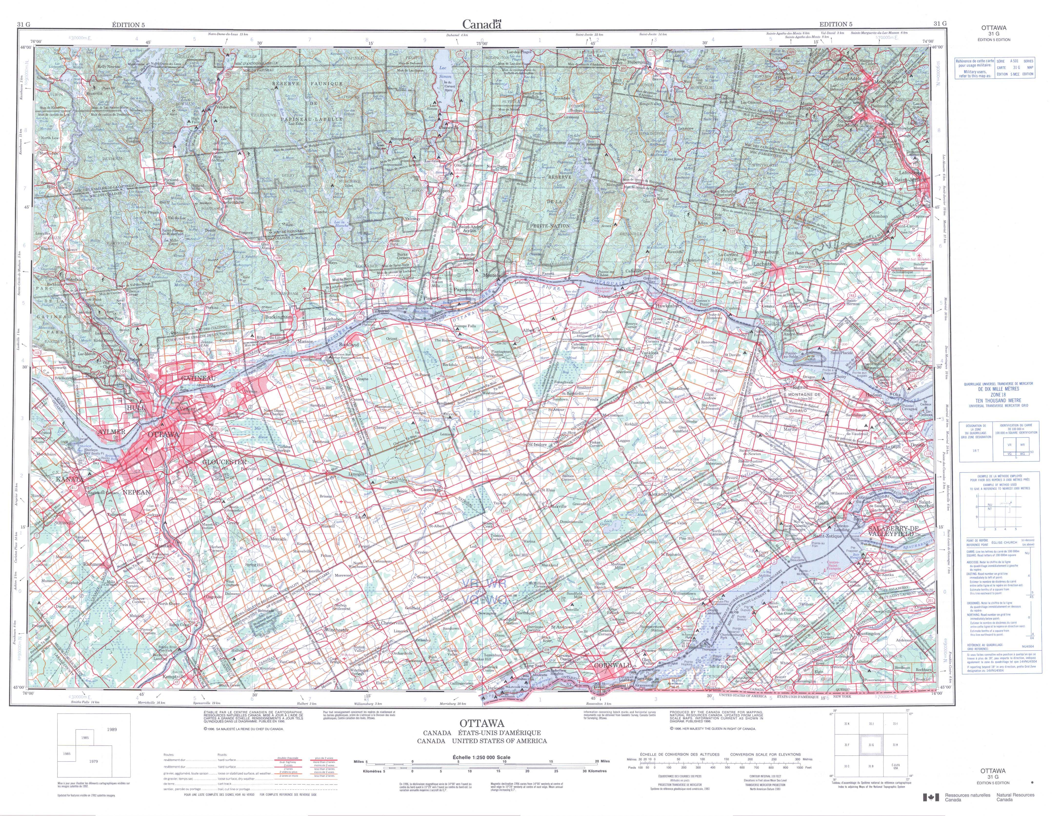 Printable Topographic Map Of Ottawa 031G, On - Printable Topo Maps Online