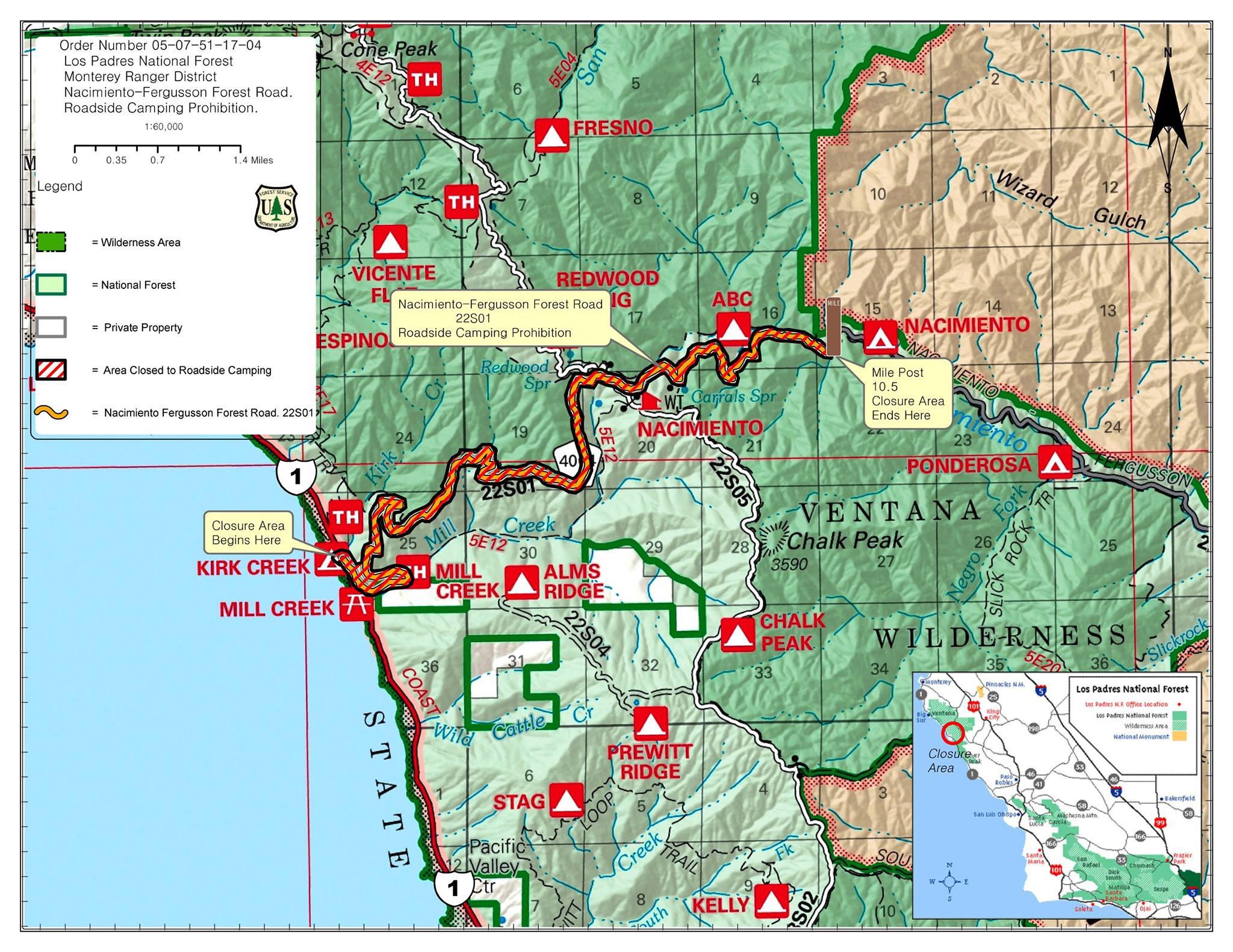 Printable Travel Maps Of Coastal California Moon Com Inside Map - Free Printable Travel Maps