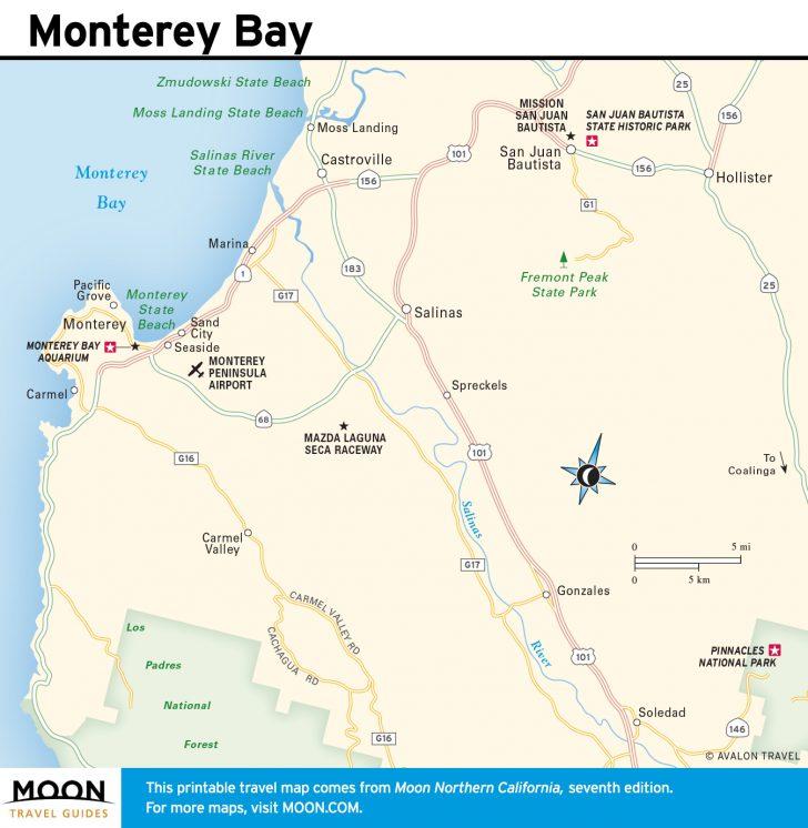 Monterey Bay California Map