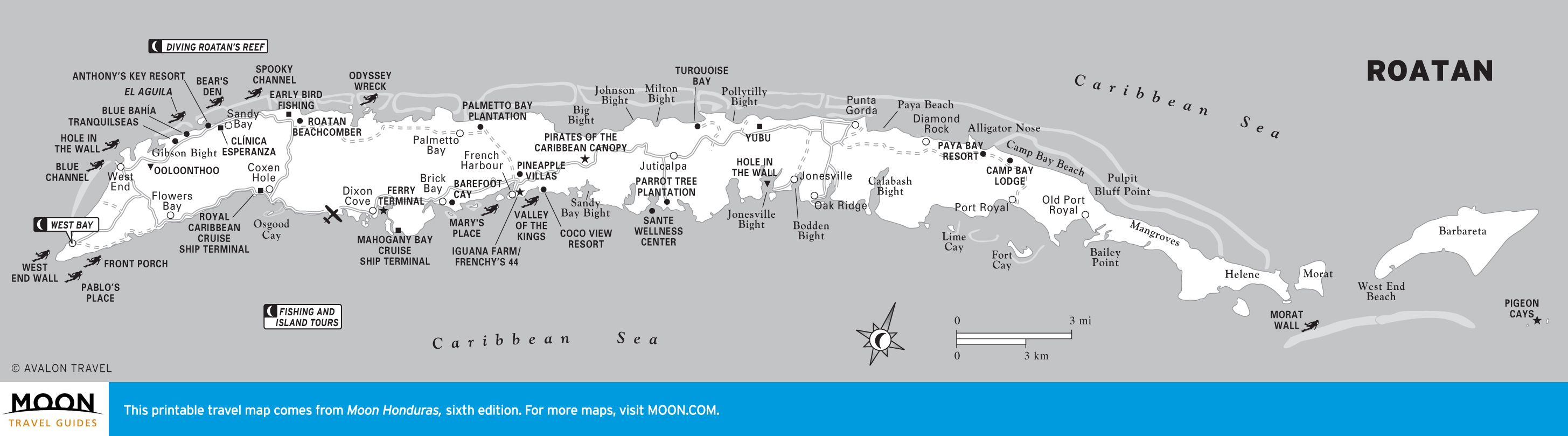 Printable Travel Maps Of Honduras | Travel | Honduras Travel, Travel - Printable Map Of Honduras
