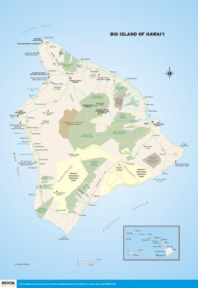 Printable Travel Maps Of The Big Island Of Hawaii In 2019 | Scenic - Printable Driving Map Of Kauai