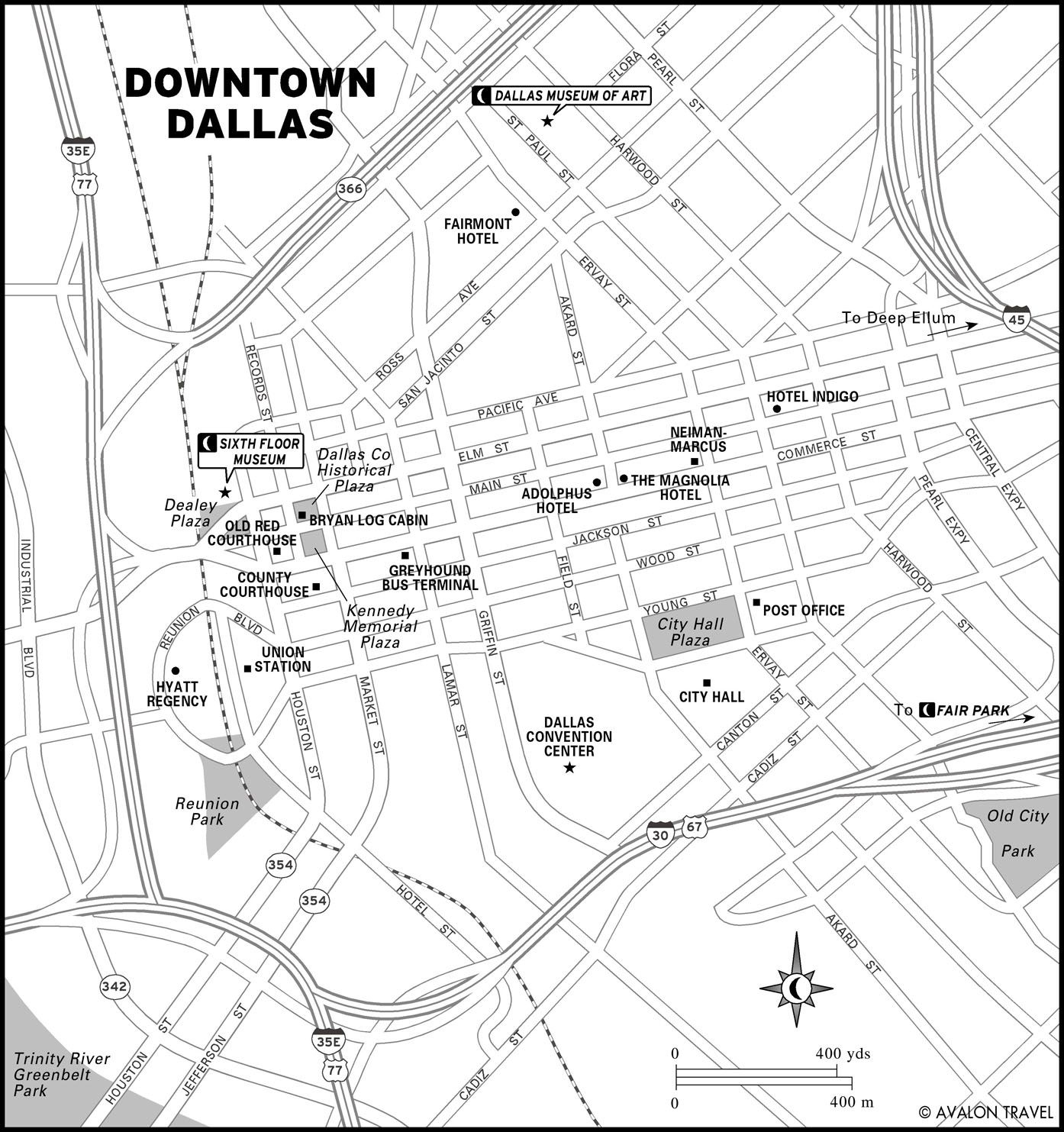 Printable Travel Maps Of The Southwest & Texas | Maps | Dallas Map - Map Of Downtown Dallas Texas