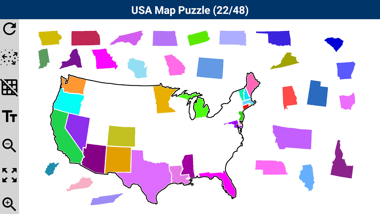 Printable United States Map Puzzle For Kids Make Your Own Lively Us - United States Map Puzzle Printable