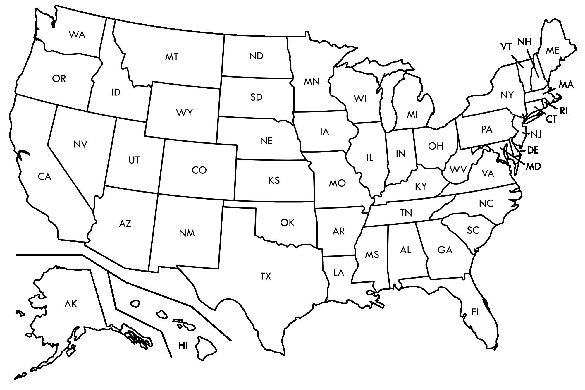 Printable Us Map Outline Free Save Free Printable Us Map Blank - Blank Us Map Printable
