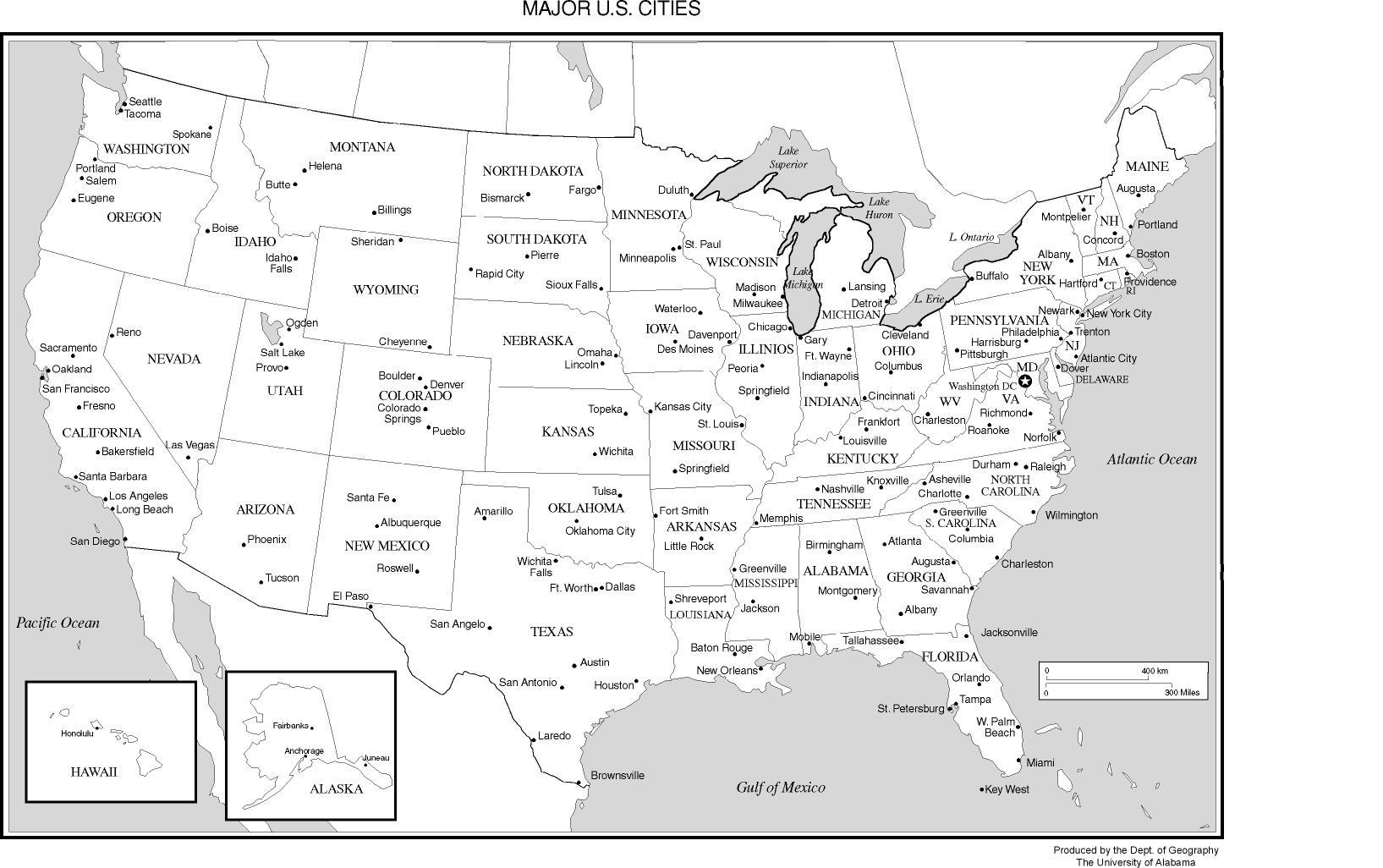 Printable Us Map With Major Cities And Travel Information | Download - Printable Us Map With Cities