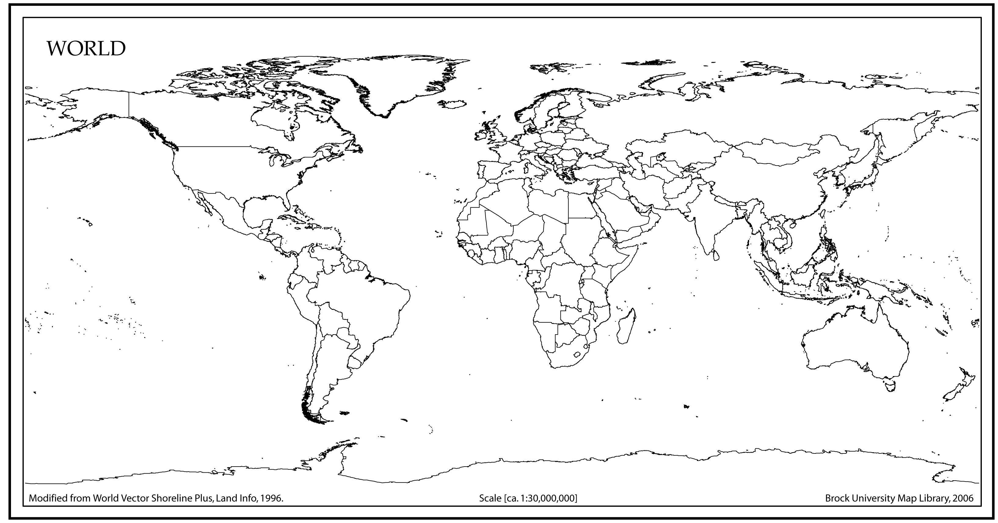 Printable World Map Large | Bestprintable231118 - Large Printable World Map