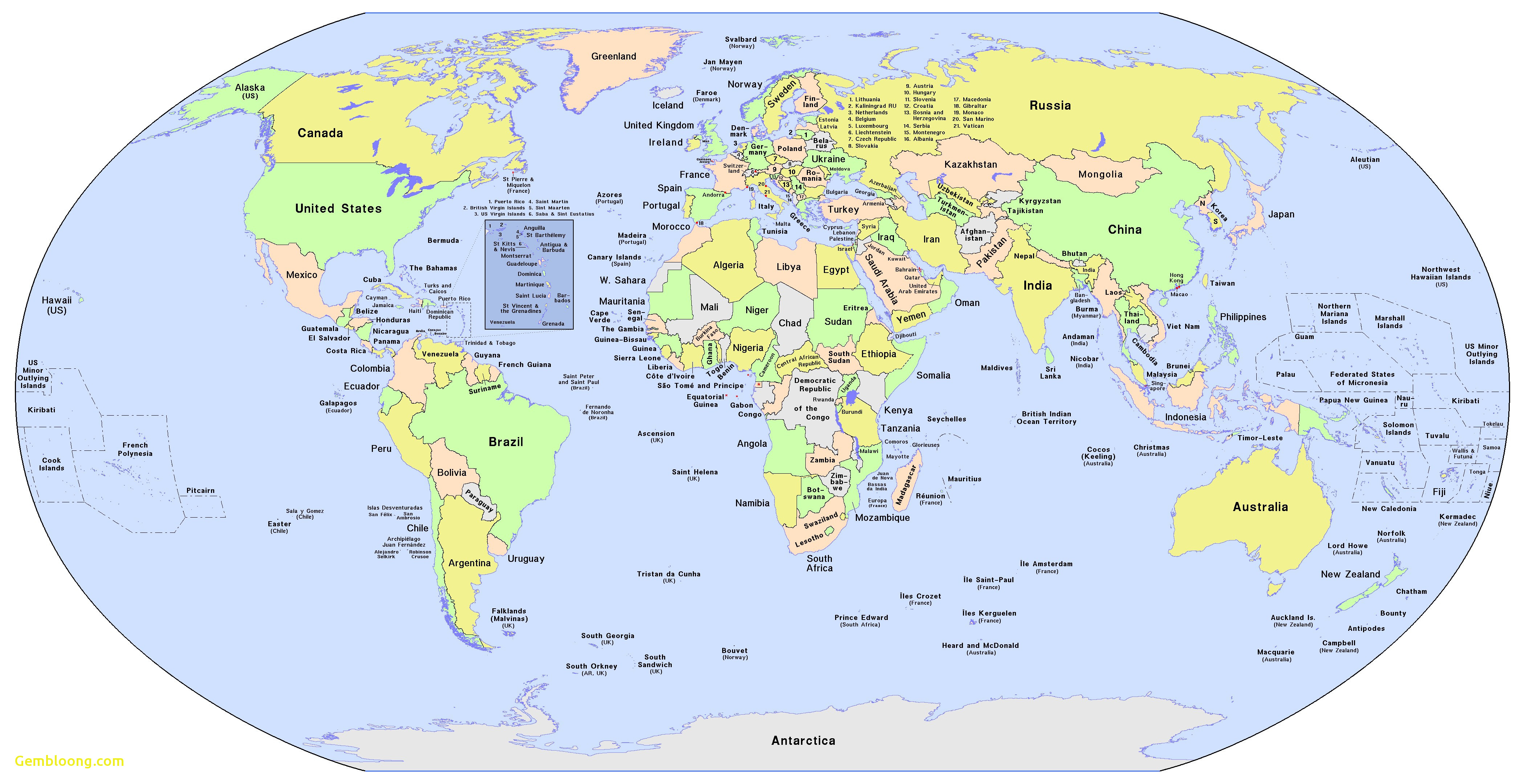 Printable World Maps With Countries - Tuquyhai - World Map Printable With Country Names