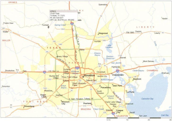 Printable Map Of Houston
