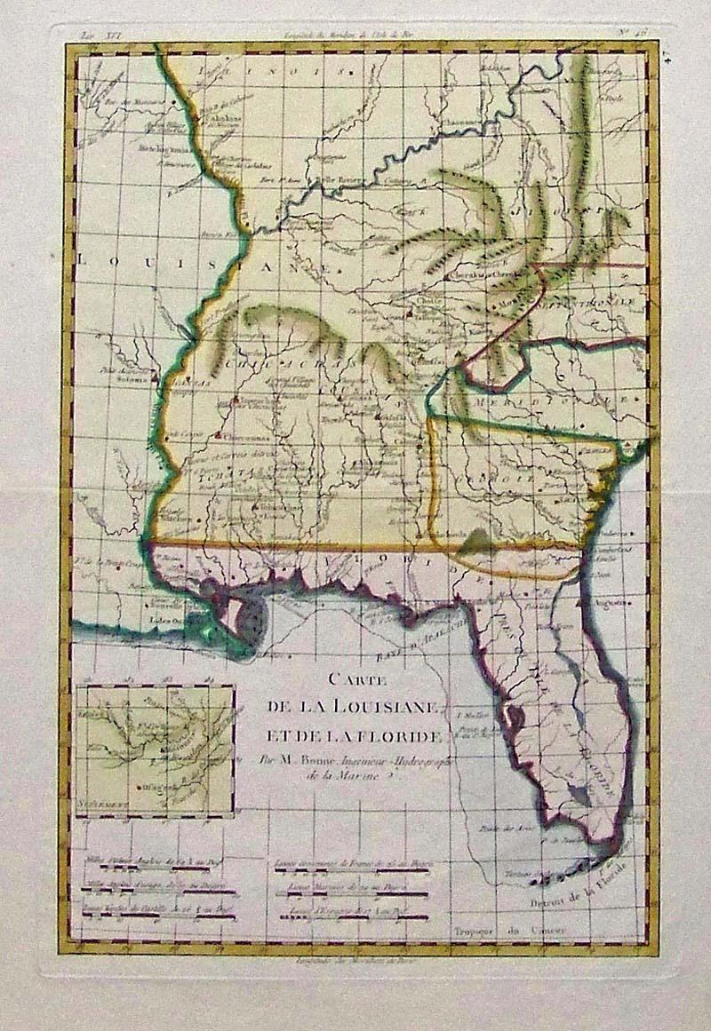 Prints Old & Rare - Louisiana - Antique Maps & Prints - Florida Louisiana Map