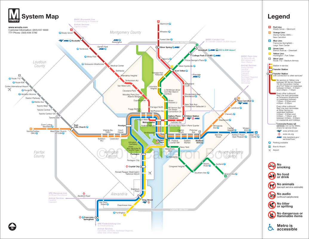 Project: Washington Dc Metro Diagram Redesign – Cameron Booth - Printable Washington Dc Metro Map