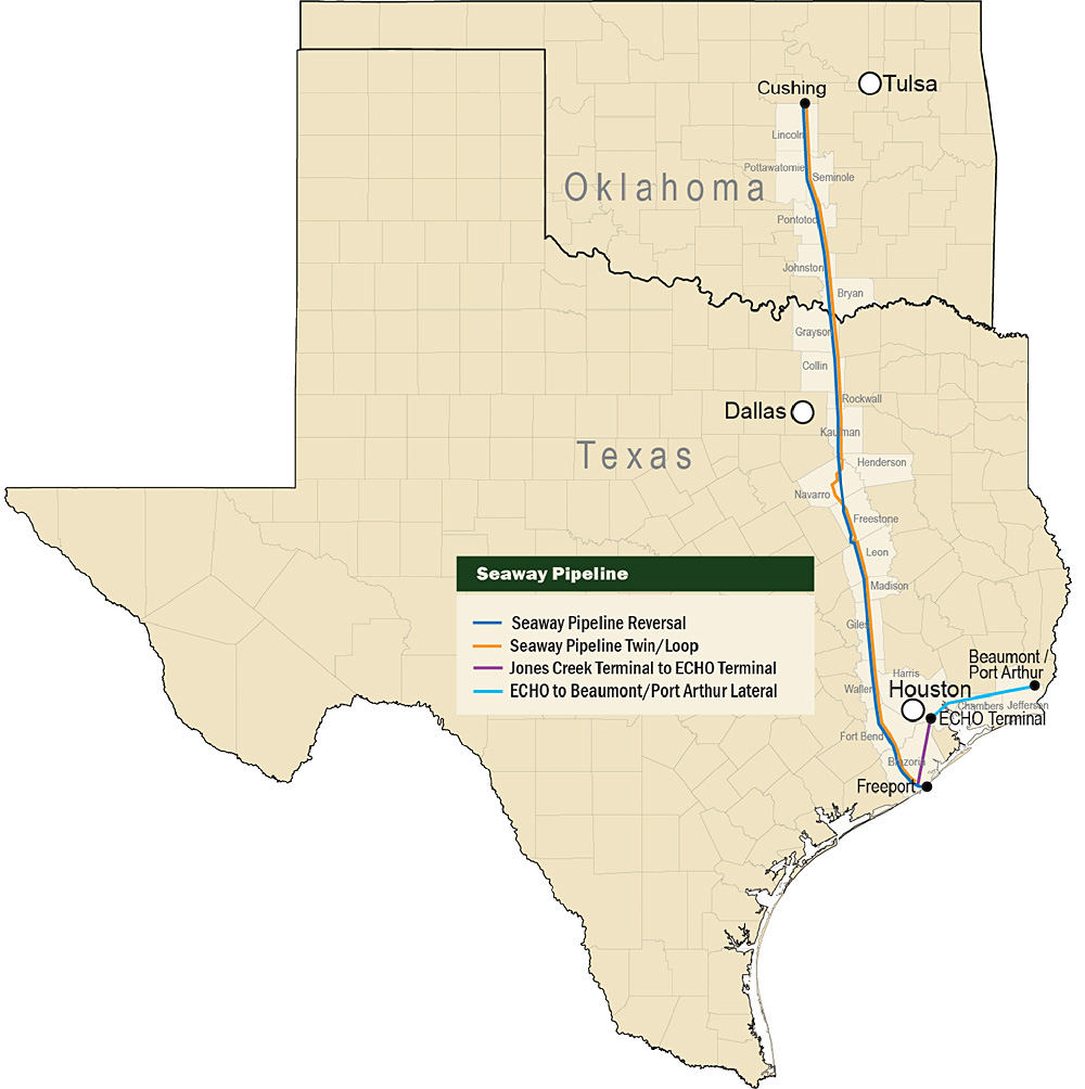 Projects | Pipeline News - Oneok Pipeline Map Texas