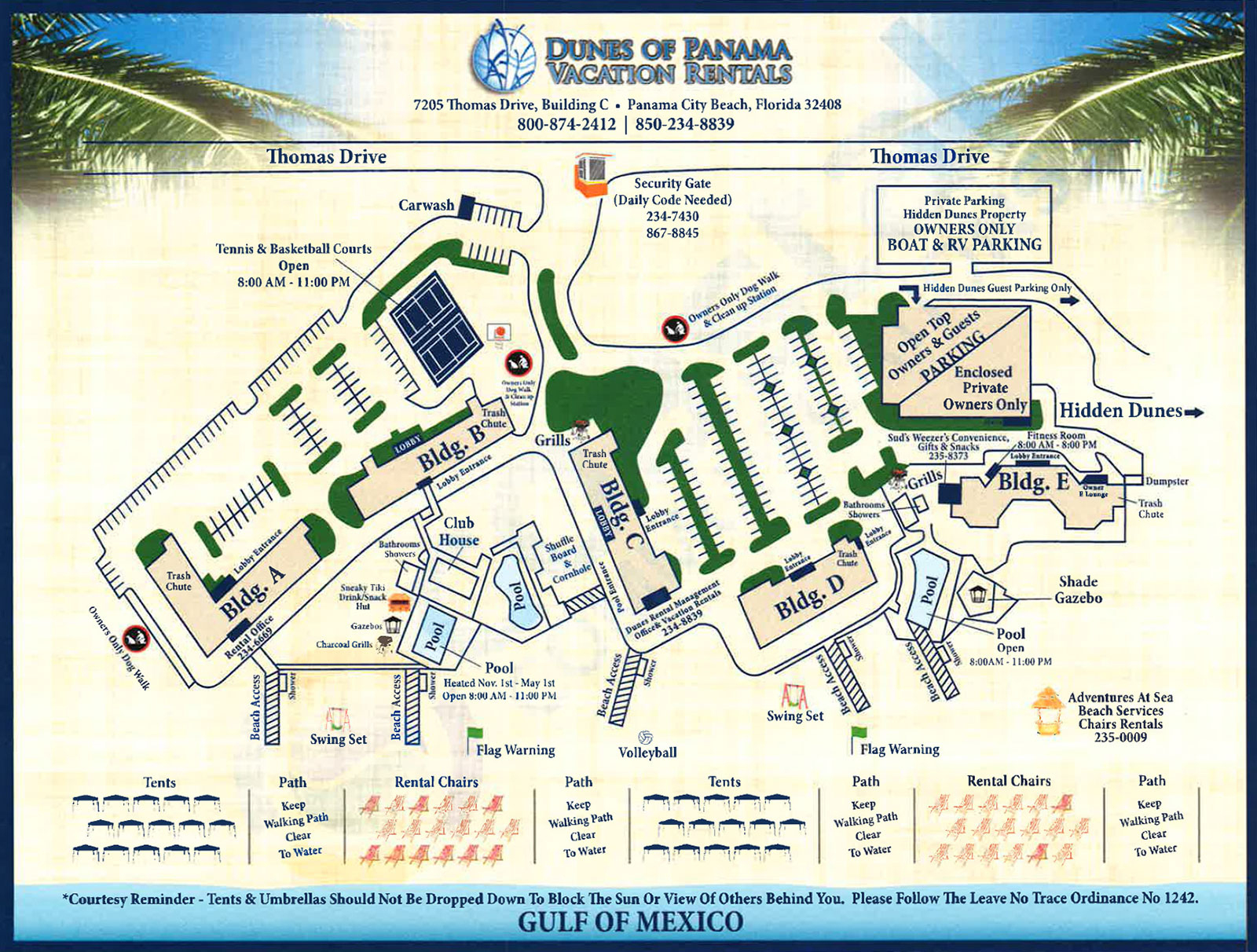 Property Map For Vacation Beach Condos   Dunes Of Panama - Map Of Panama City Beach Florida Condos