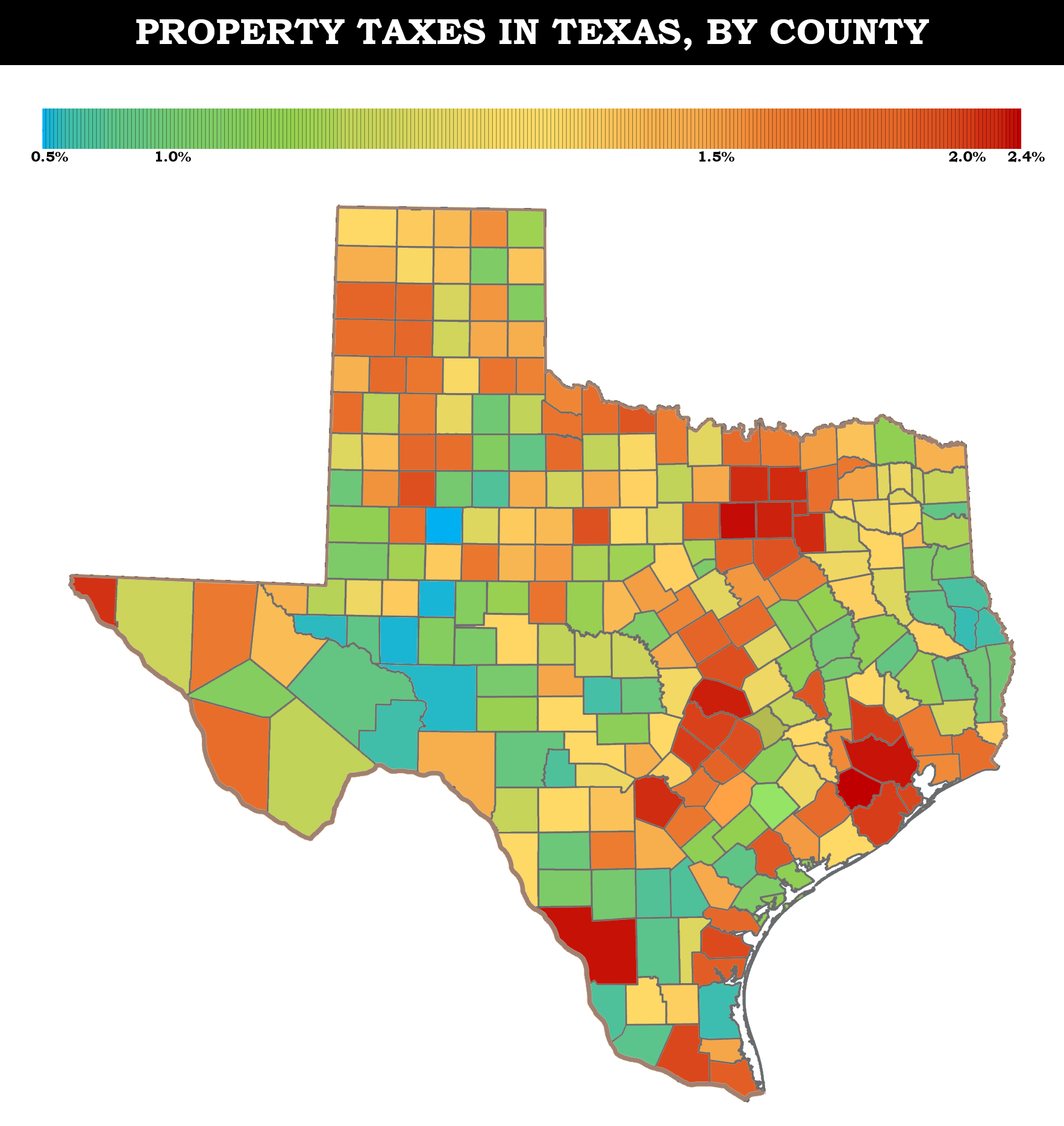 Property Taxes In Texas [Oc][1766X1868] : Mapporn - Texas Property Tax Map