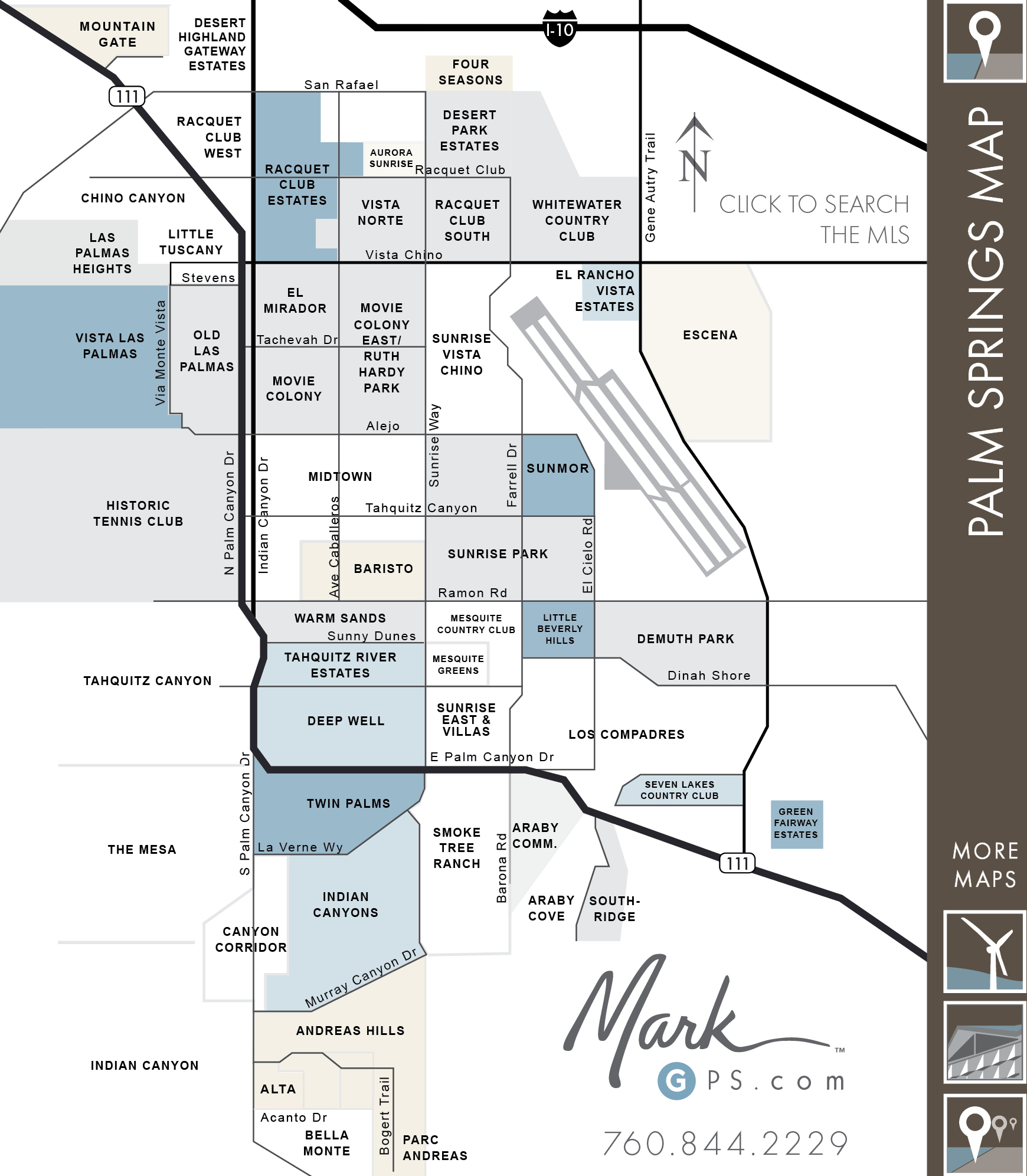Ps Neighborhoods Map Map Reference Map Of Palm Desert California - Where Is Palm Desert California Map
