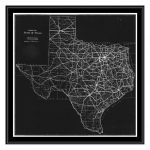 Ptm Images Texas Map Canvas With Floater Frame | Fashion Home Design   Texas Map Canvas