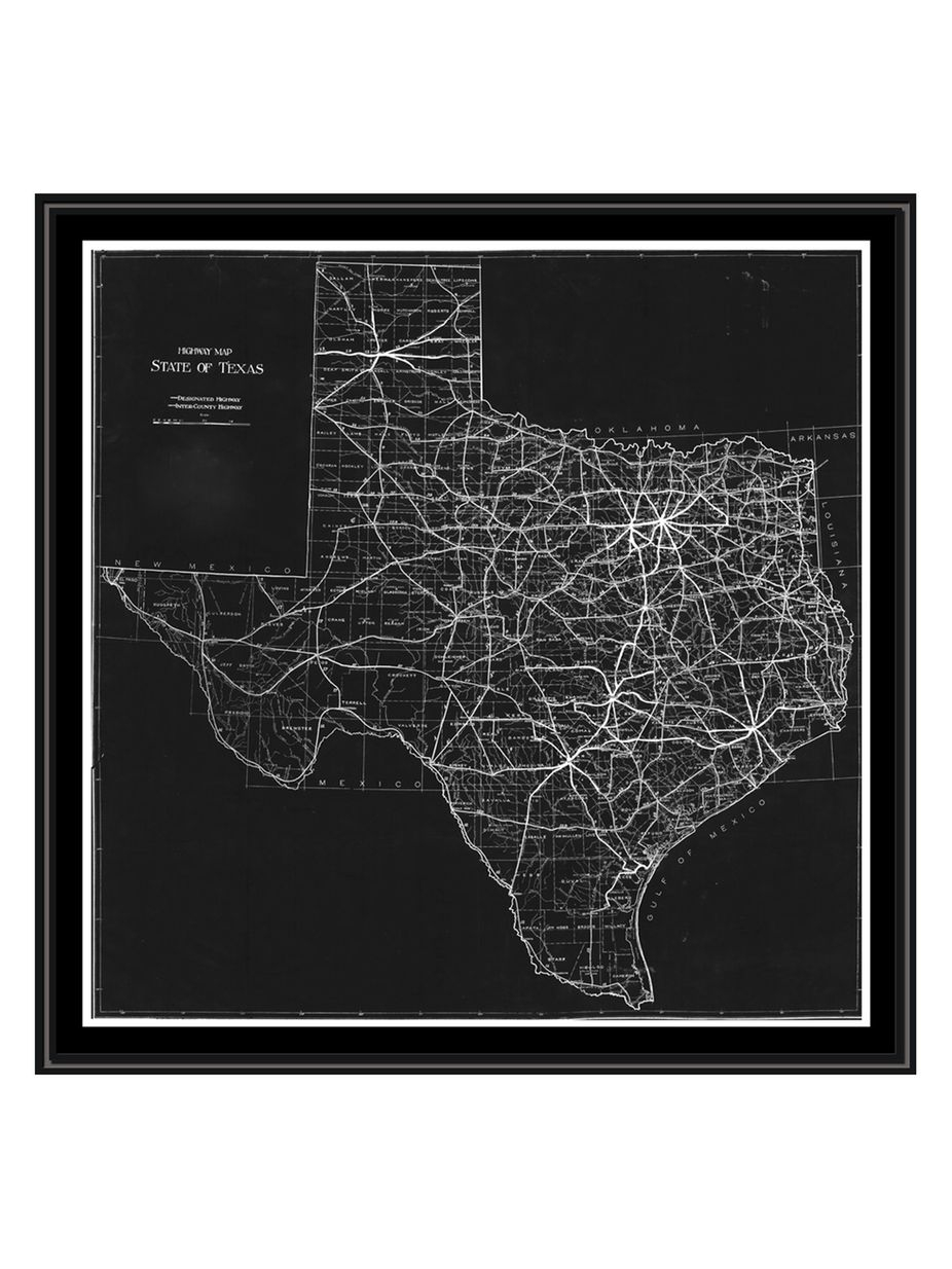 Ptm Images Texas Map Canvas With Floater Frame | Fashion Home Design - Texas Map Canvas