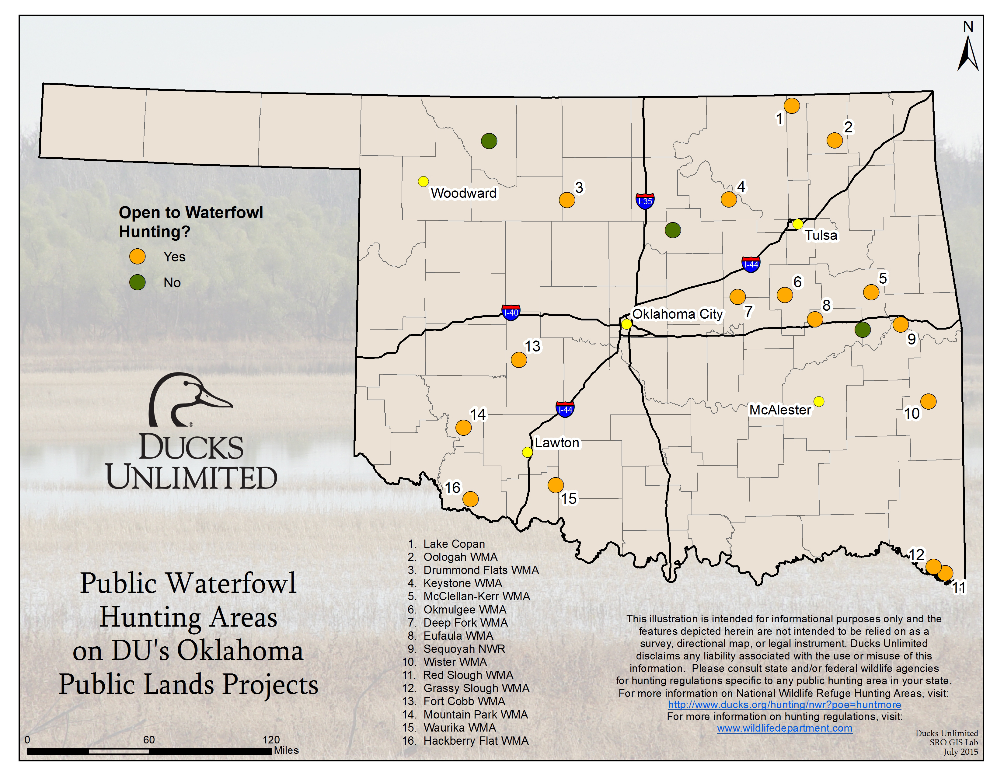 Public Hunting On Du Projects In Oklahoma - Texas Type 2 Hunting Land Maps