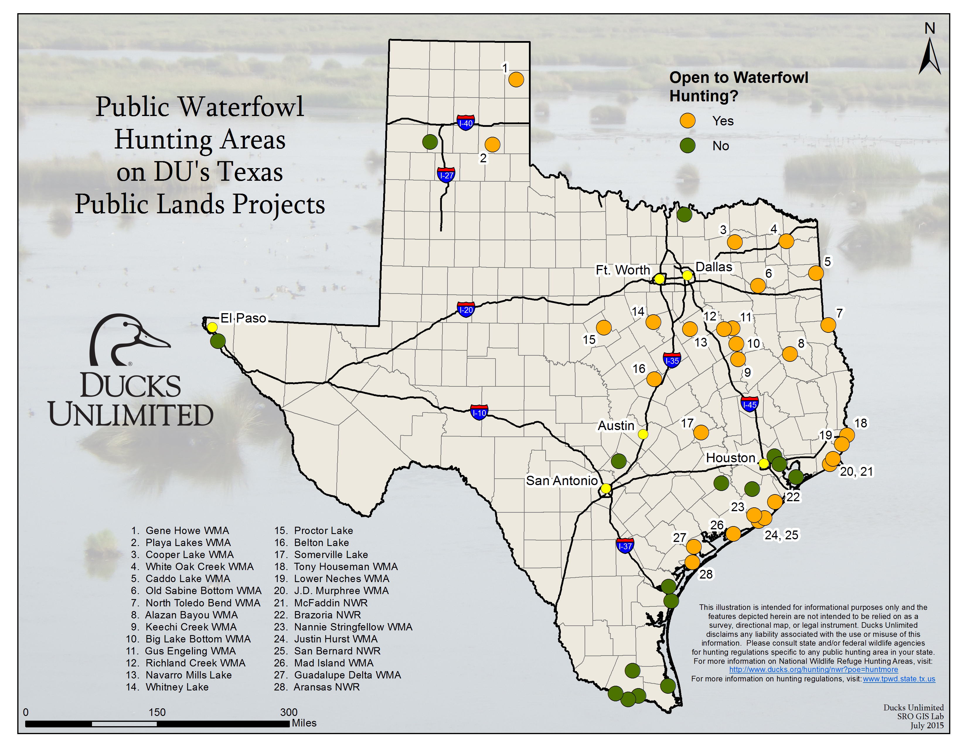 Public Hunting On Du Projects In Texas - Texas Public Hunting Map