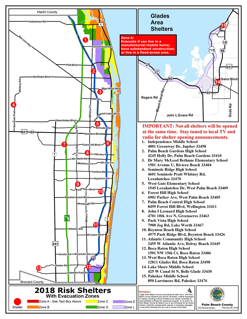 Public Safety - Emergency Management Hurricane - Zip Code Map Of Palm Beach County Florida
