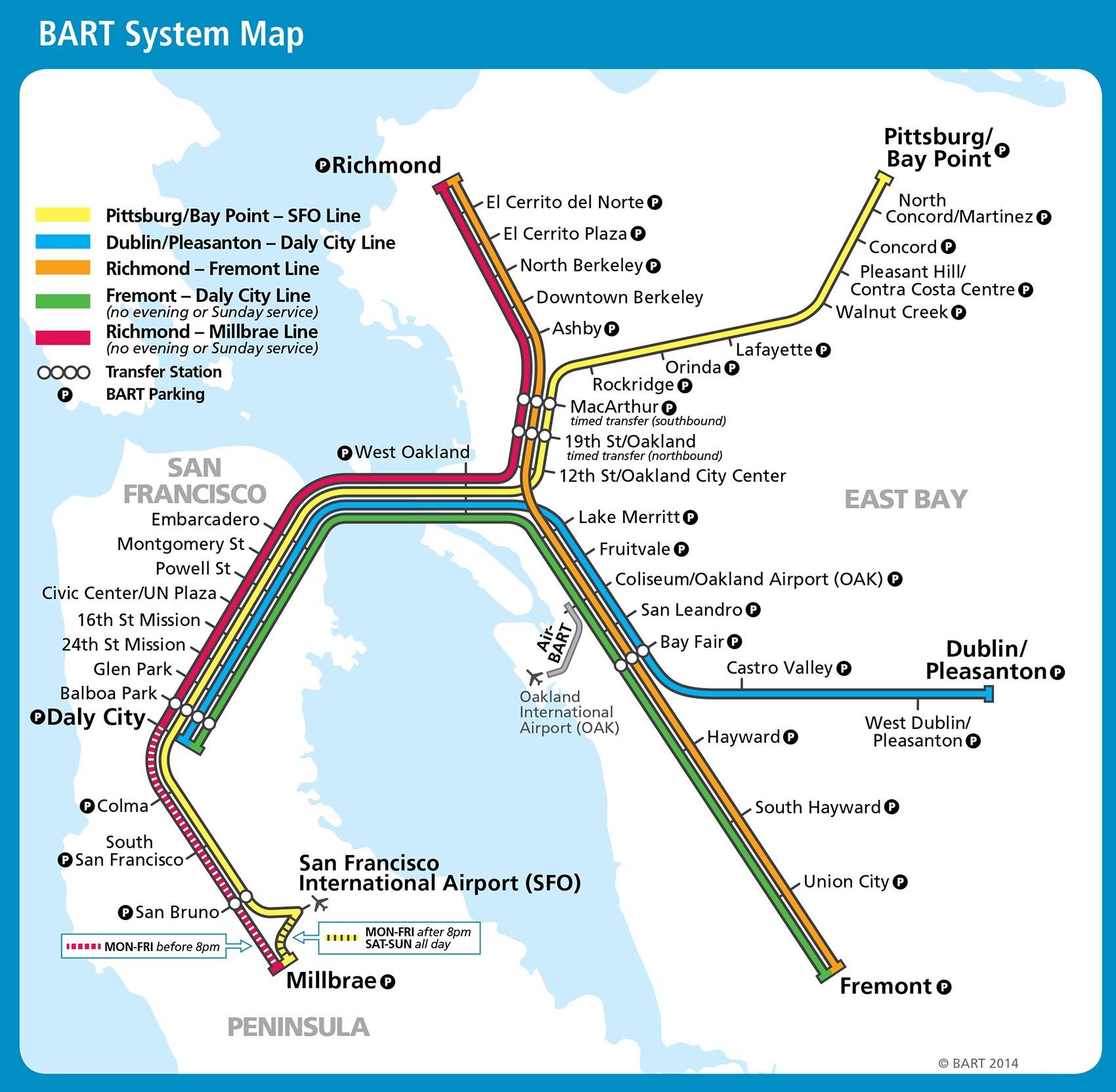 Public Transportation Near San Francisco Airport | San Mateo Marriott - San Bruno California Map