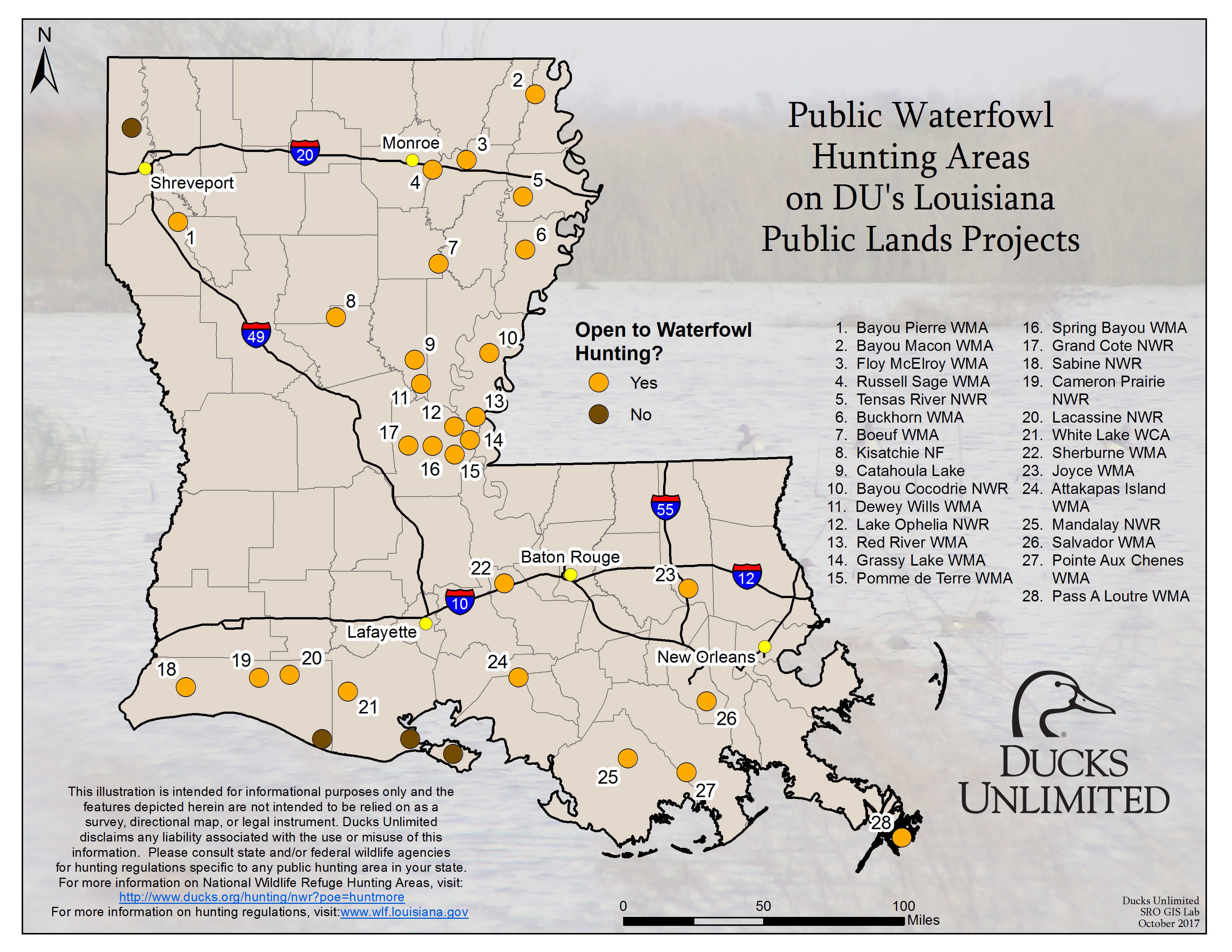 Public Waterfowl Hunting Areas On Du Public Lands Projects - California Public Hunting Land Map