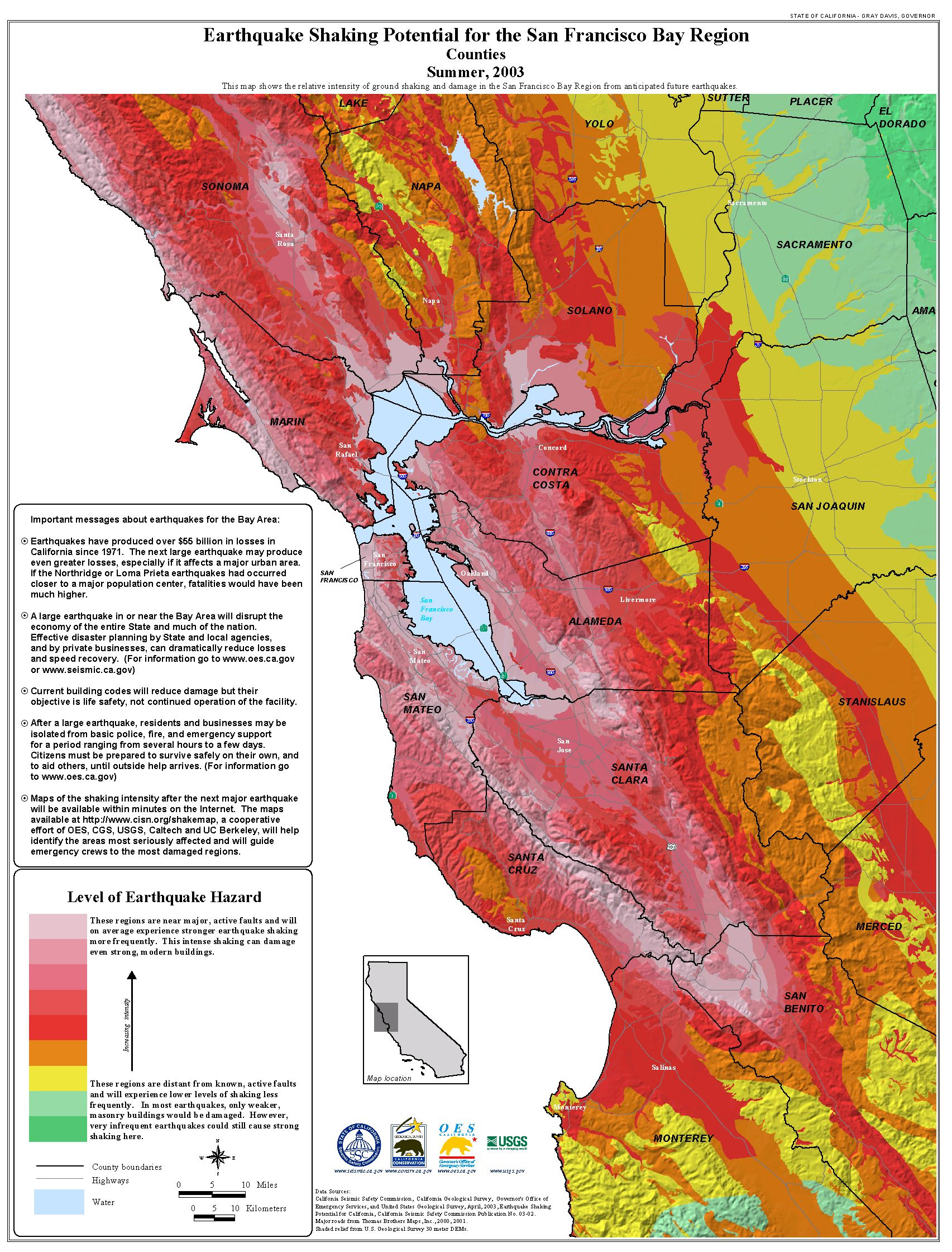 Publications California Seismic Safety Commission New Earthquake Map - California Earthquake Map