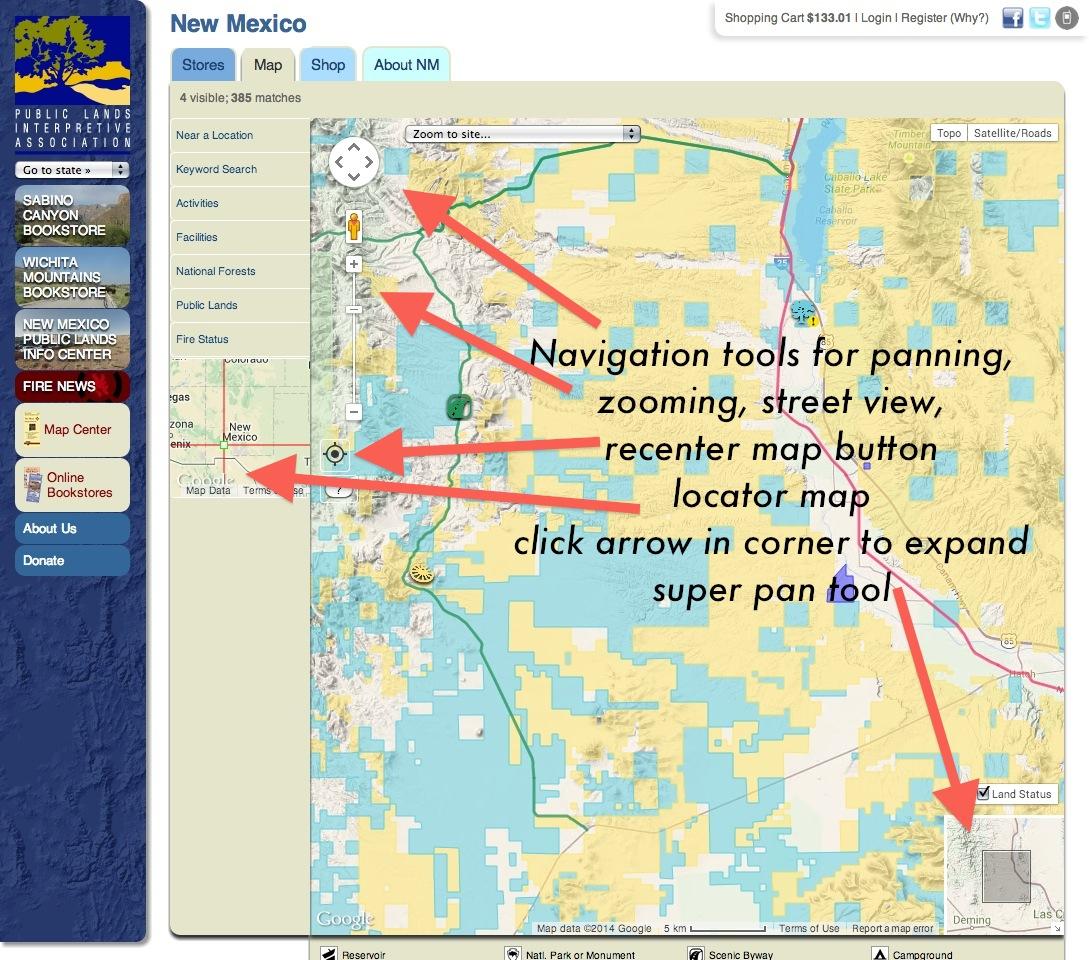 Publiclands | Nevada - California Blm Camping Map