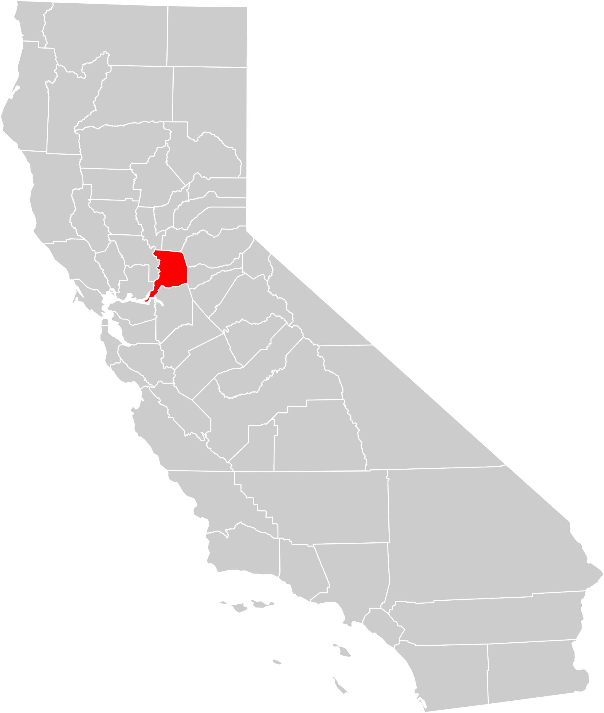 Px California County Map Sacramento County Highlighted Svg - Sacramento California Map