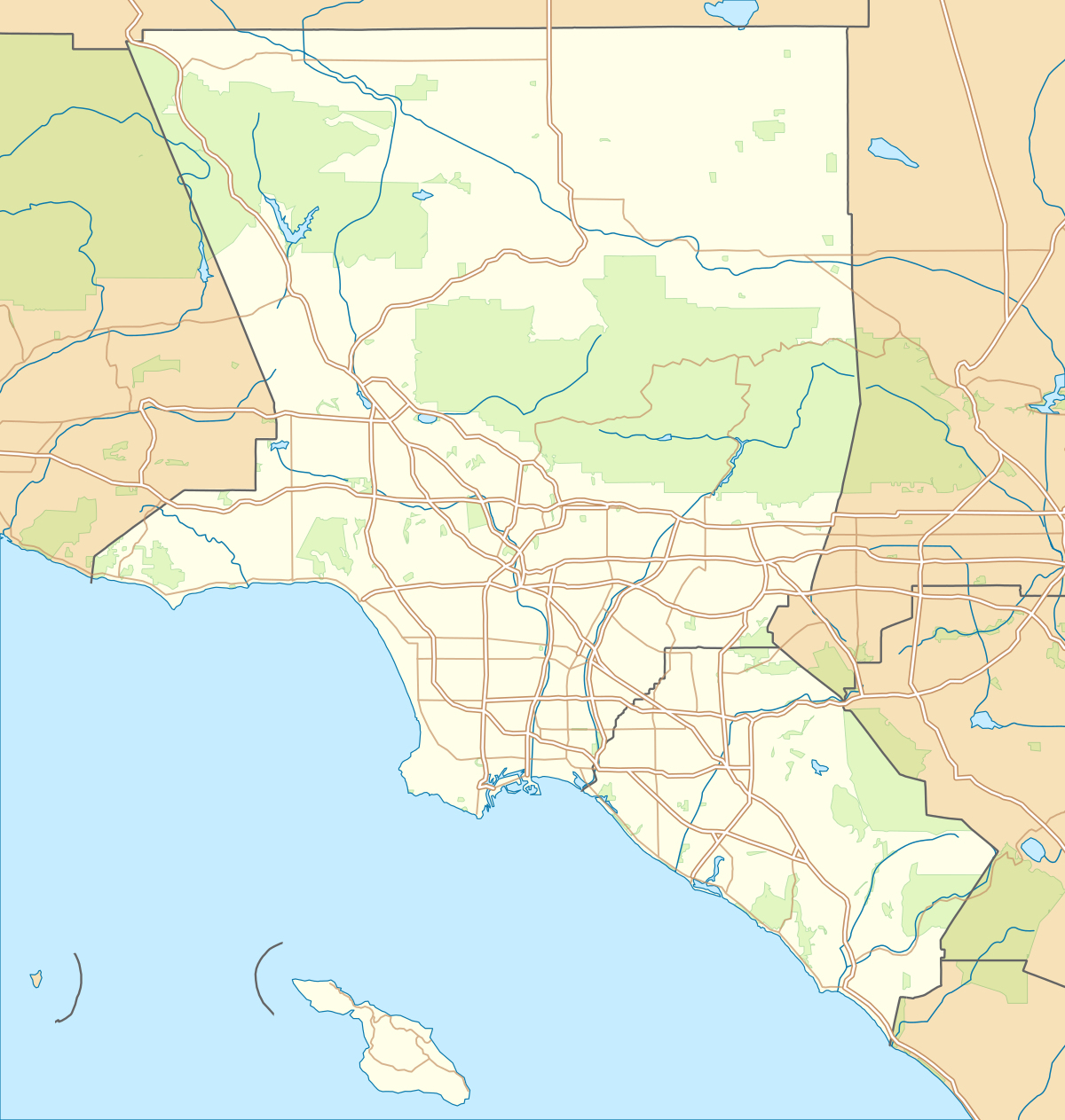 Px Usa Los Angeles Metropolitan Area Location Map Svg Map New Of - Where Is Lincoln California On The Map