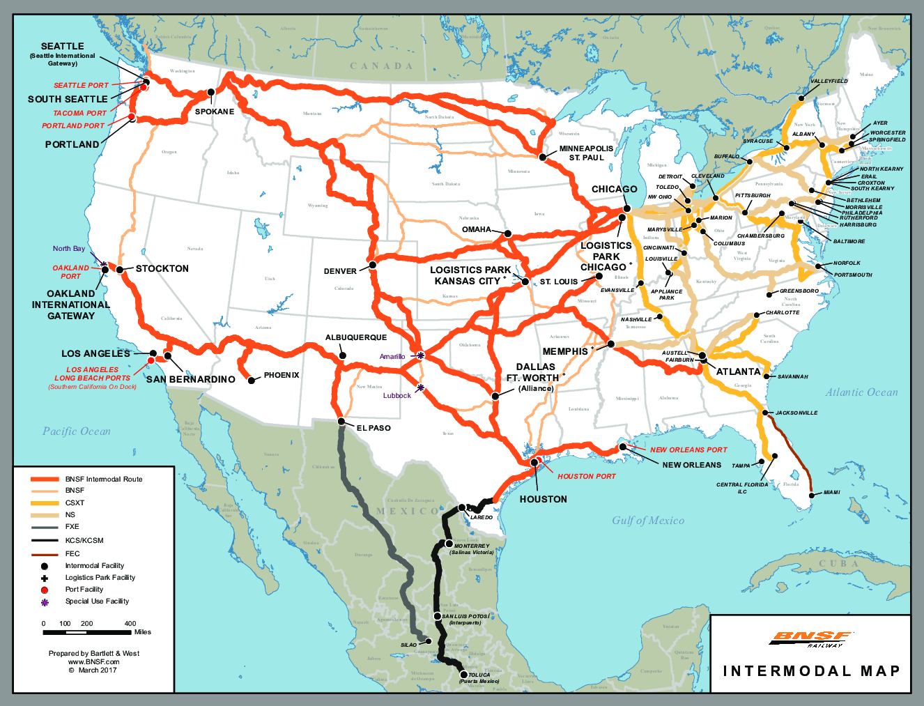 Rail Network Maps | Bnsf - Florida Railroad Map