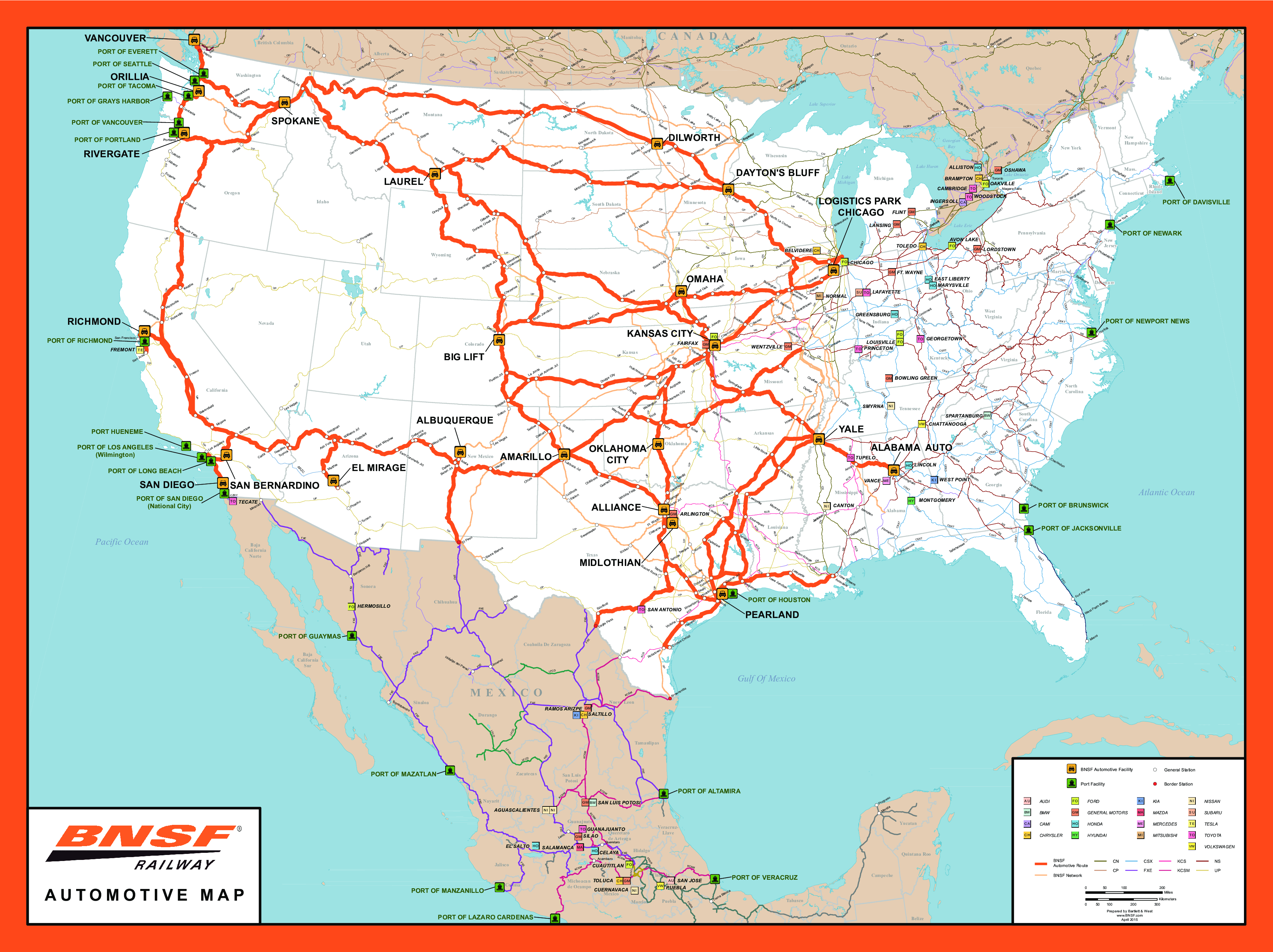 Rail Network Maps | Bnsf - Texas Weigh Stations Map