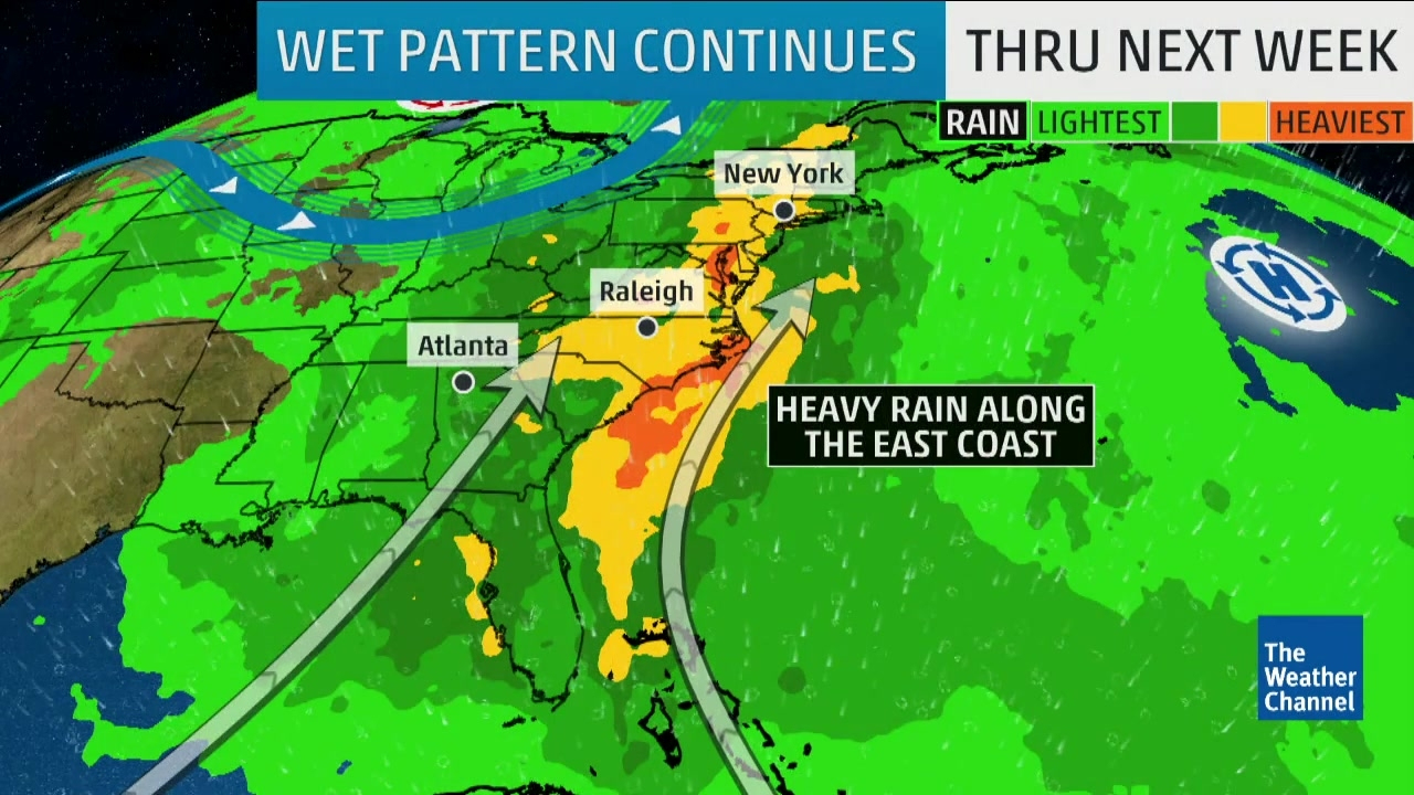 Rainy Weekend Ahead For The East Coast | The Weather Channel - Florida Weather Map Today