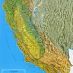 Raised Relief Maps Of California   California Raised Relief Map
