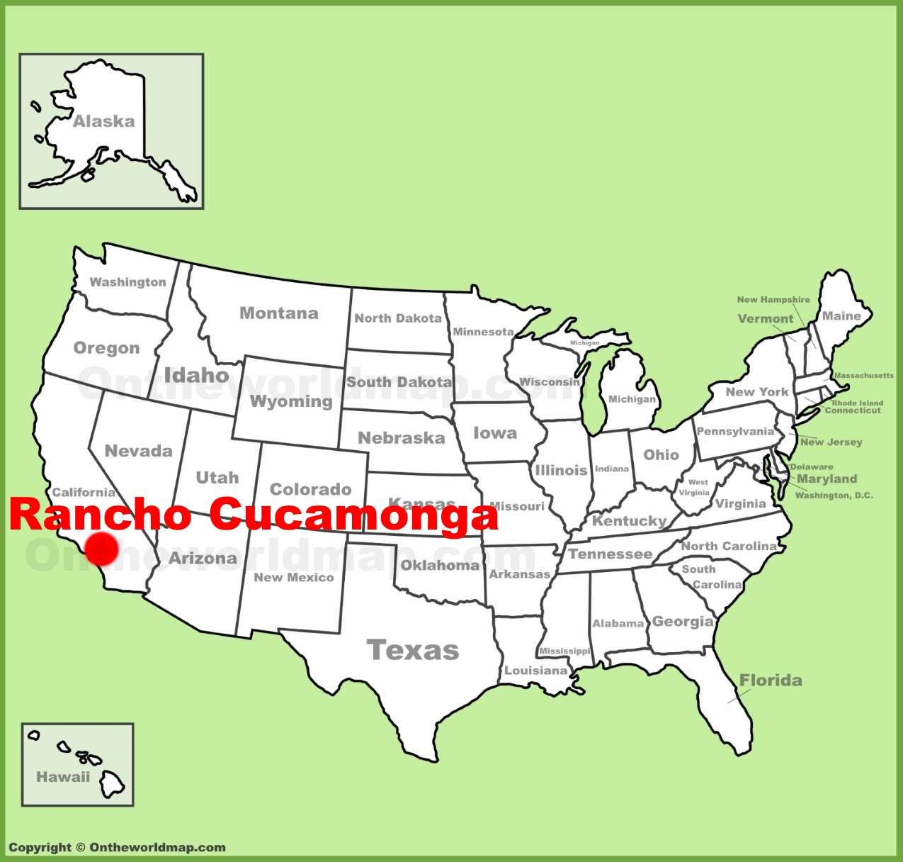 Rancho Cucamonga California Map - Klipy - Rancho Cucamonga California Map