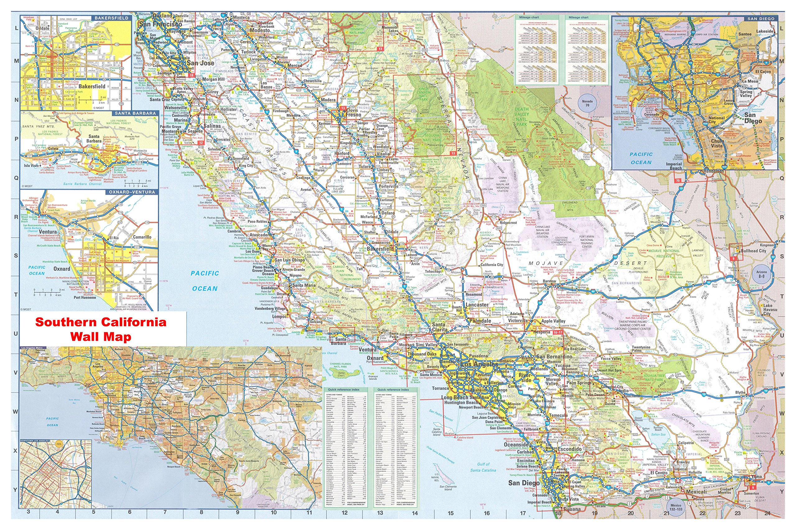 Rand Mcnally California Map - Klipy - Northern California Wall Map