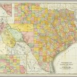 Rand Mcnally  Railroad And County Map Of Texas. / Rand Mcnally   Full Map Of Texas