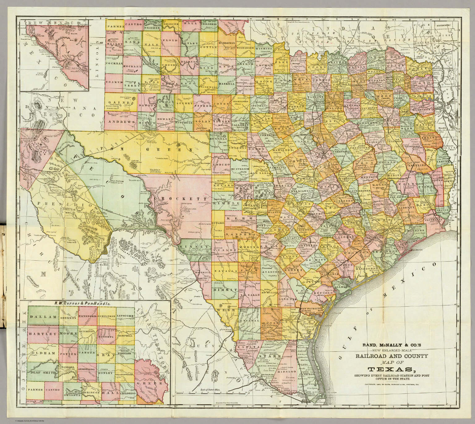 Rand Mcnally  Railroad And County Map Of Texas. / Rand Mcnally - Full Map Of Texas