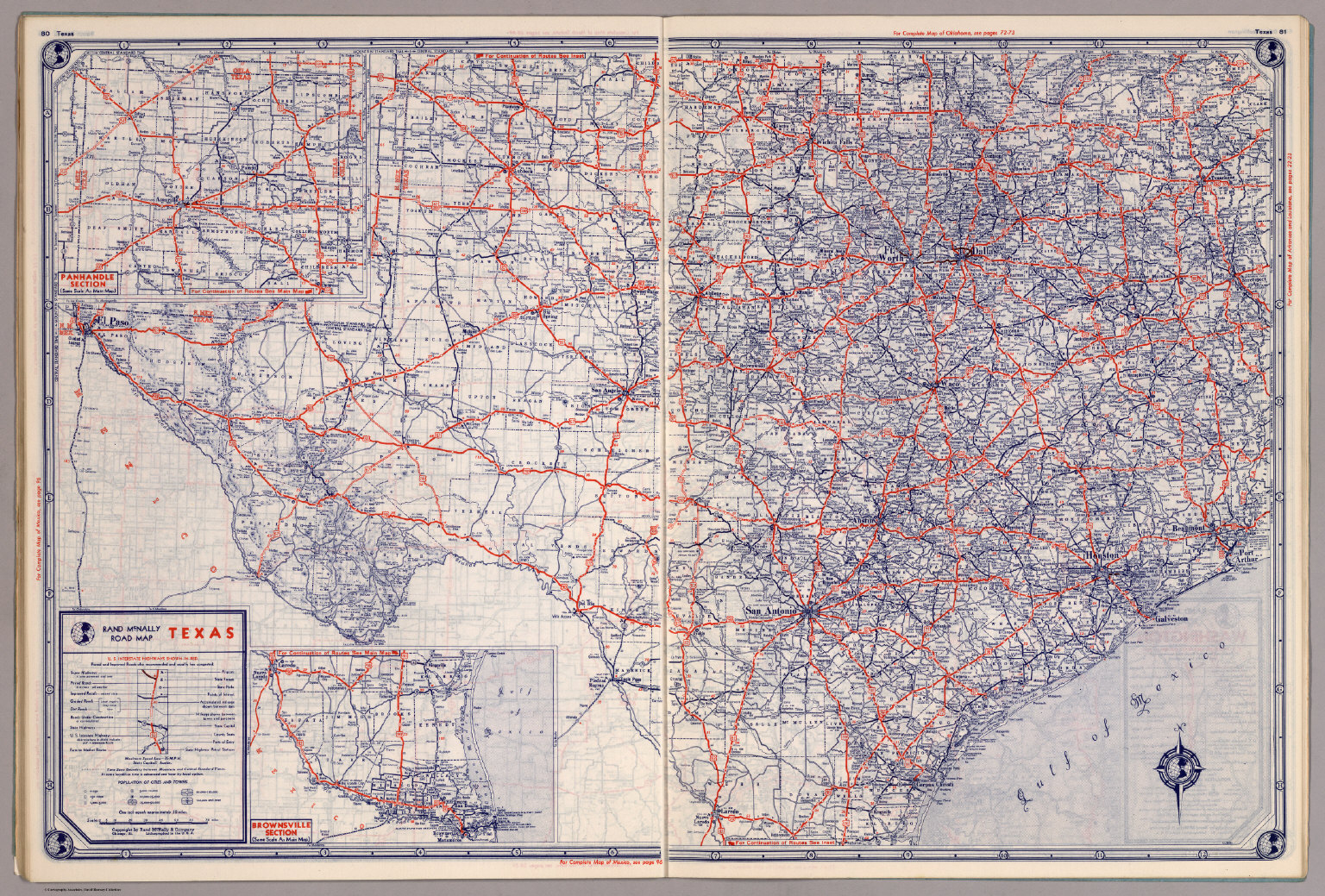 Rand Mcnally Road Map: Texas - David Rumsey Historical Map Collection - Rand Mcnally Texas Road Map